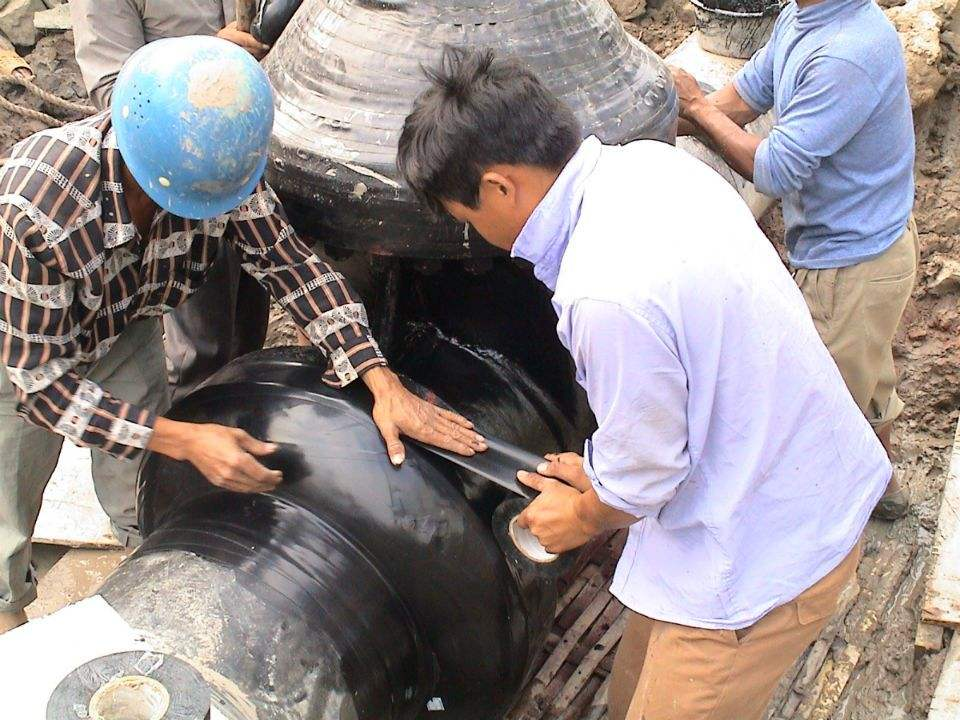 Joint patching construction of drop joint
